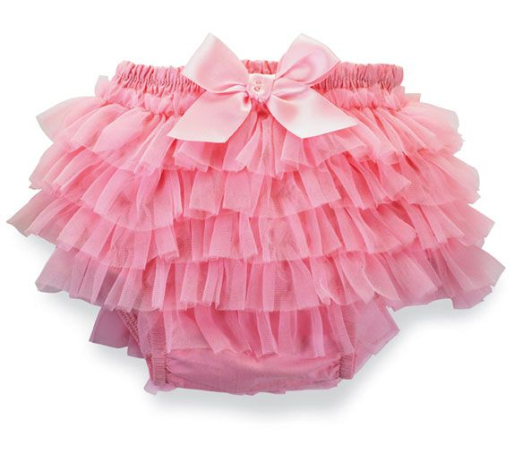 0-6 Mud Pie Baby Girl Chiffon Bloomer - Light Pink