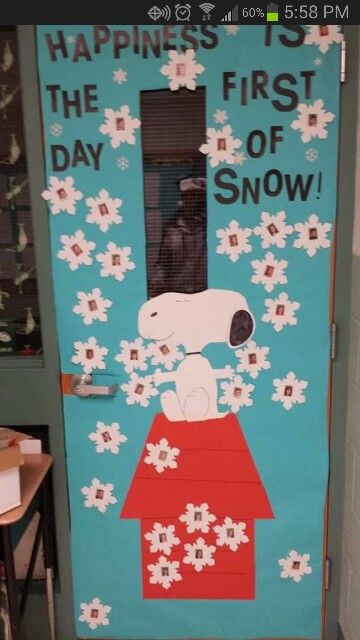 Snoopy Winter Bulletin Board For Children Christmas