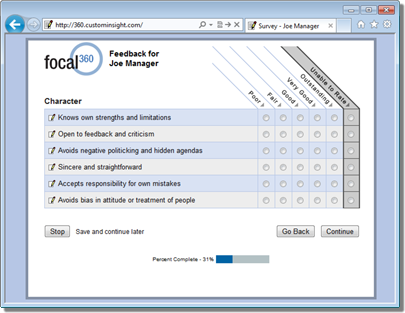 Sample 360 Degree Feedback Surveys 360 degree feedback