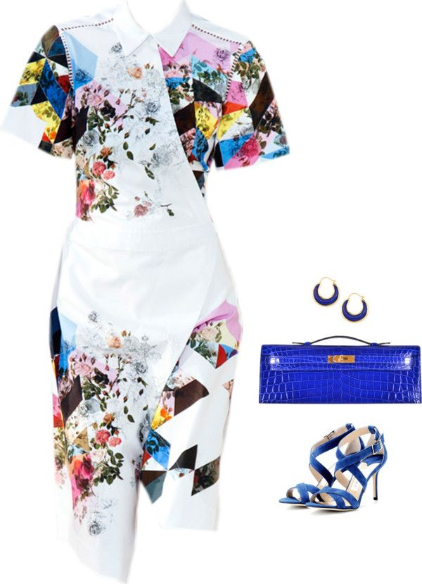 SevenRoses: Preen, Satinee Print Dress