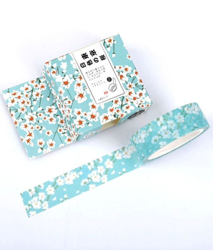 decoration tape Lunarbaystore.com 4 rolls of Teal Washi Tapes Bundle Package Cool washi tape Lunarbay Washi Tape Gift