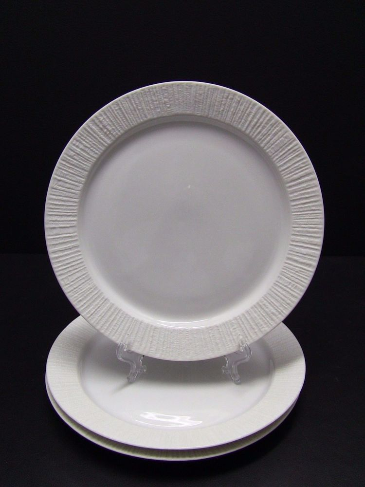 3 Mid Century Modern THOMAS Rosenthal Germany ARCTA WHITE Luncheon Plates 9 1/4  : thomas rosenthal dinnerware - Pezcame.Com