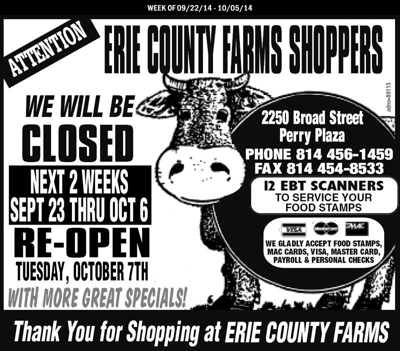 Erie County Farms Weekly Ad