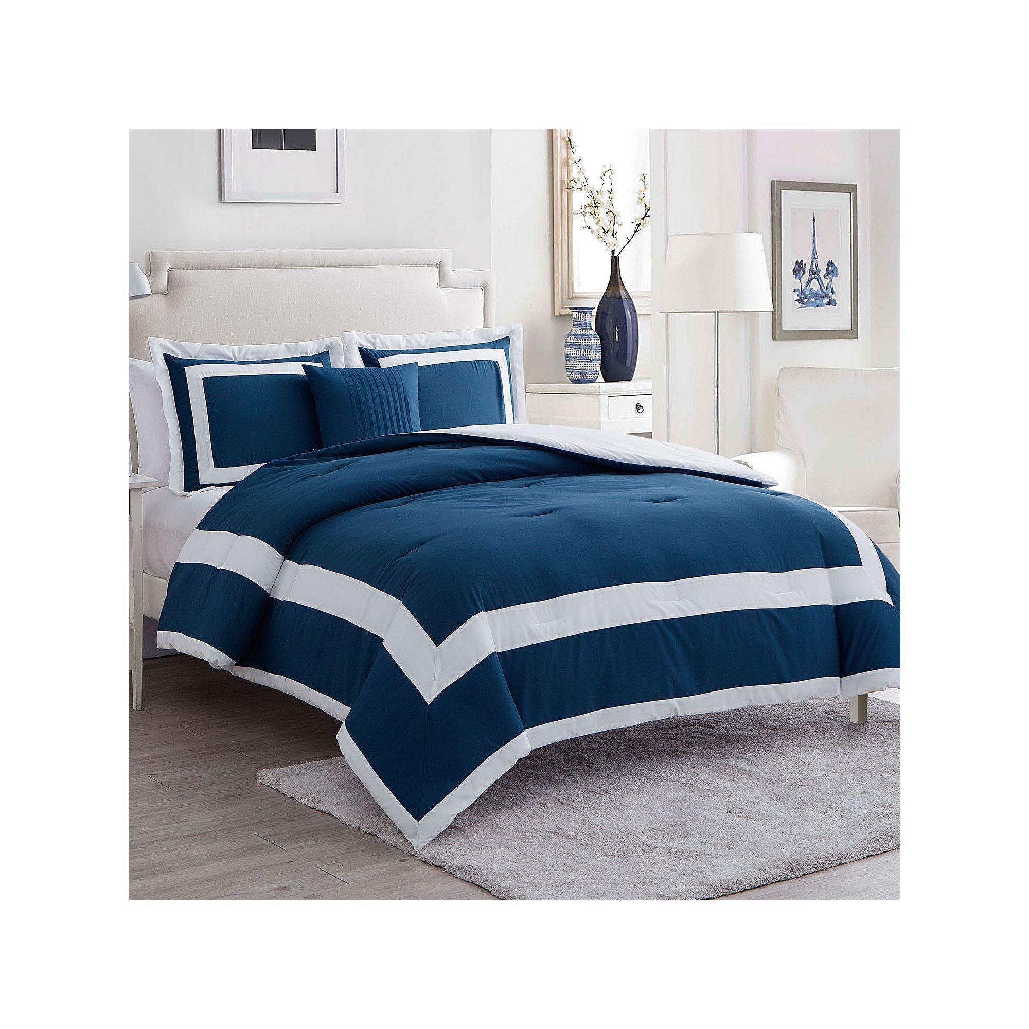 Vcny Alaina Duvet Cover Set Blue King Discount Bedroom Furniture Comforter Sets Duvet Cover Sets