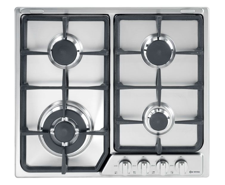 Verona 24 Gas Cook Top Gas Cooktop Iron Grate Stainless Steel Cooktop