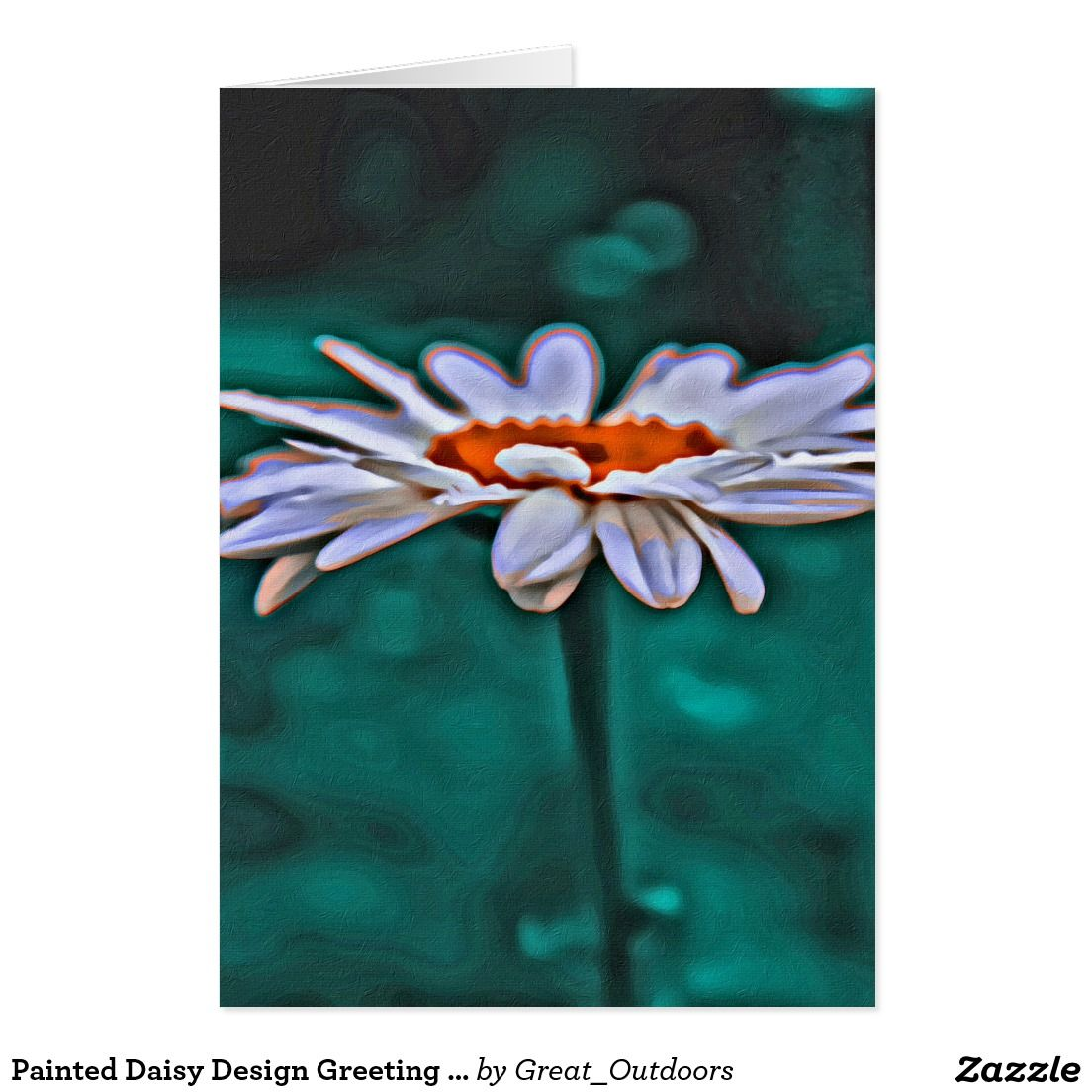 Painted Daisy Design Greeting Card