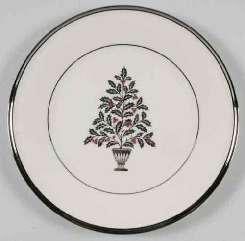 lenox solitaire christmas christmas tree salad plate 932013 - Solitaire Christmas
