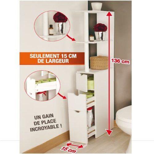 Probache Meuble Wc Etagere Bois Gain De Place Pour Toilettes