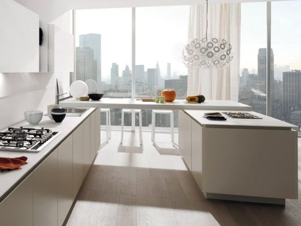 Modern minimalist kitchen decor. More kitchen decor ideas @BrightNest Blog Minimalist Kitchen Cocina Minimalista