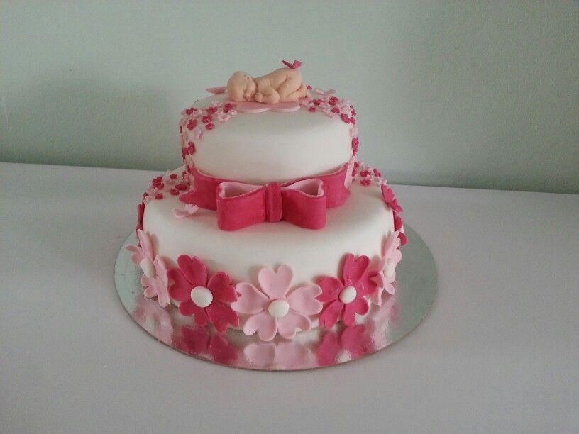 babyshower taart Babyshower taart meisje | Tortas/pasteles De Baby Shower  babyshower taart