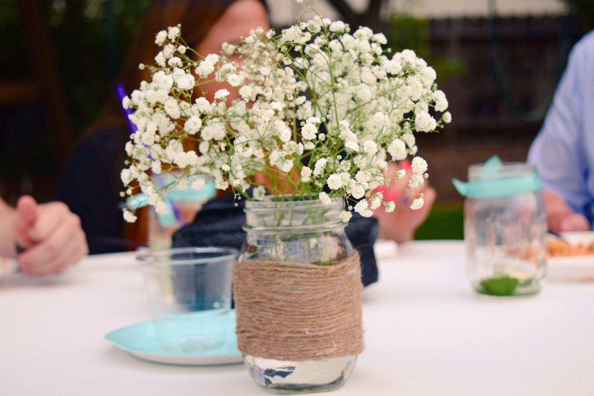 Simple Engagement Party And Diy Wedding Centerpieces For Shabby Chic