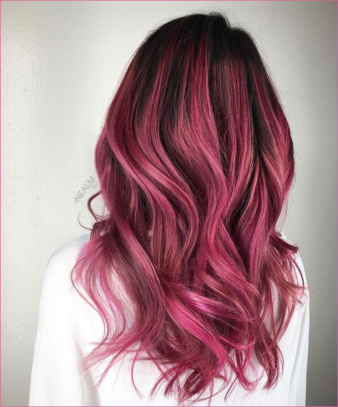 Wild Orchid Hair Color In 2020 Dark Pink Hair Hair Styles Brunette Hair Color