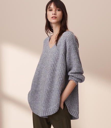 Lou Grey Slouchy Shirttail Tunic Sweater Lisa Wishlist