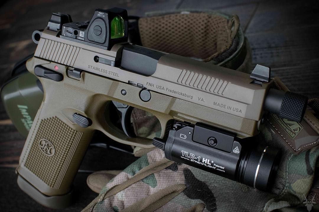 FNX-45 Tactical with Streamlight TLR-1 HL and RMR | Handguns