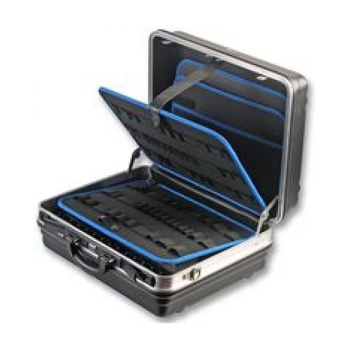 ABS Tool Case Large 32 Litre Aluminium Frame ABS Shell Black with Locks