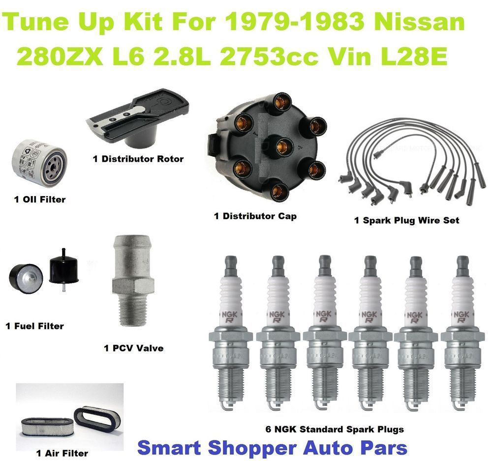 Tune Up Kit for 19791983 Nissan 280ZX Spark Plug, Air