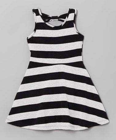 e23bd31000 Loving this Black & White Stripe A-Line Dress - Infant, Toddler & Girls on  #zulily! #zulilyfinds