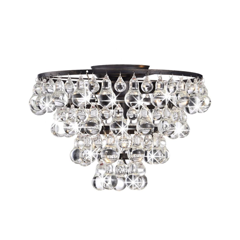 Tranquil crystal and bubble flush mount chandelier overstock ceilings tranquil crystal and bubble flush mount chandelier arubaitofo Image collections