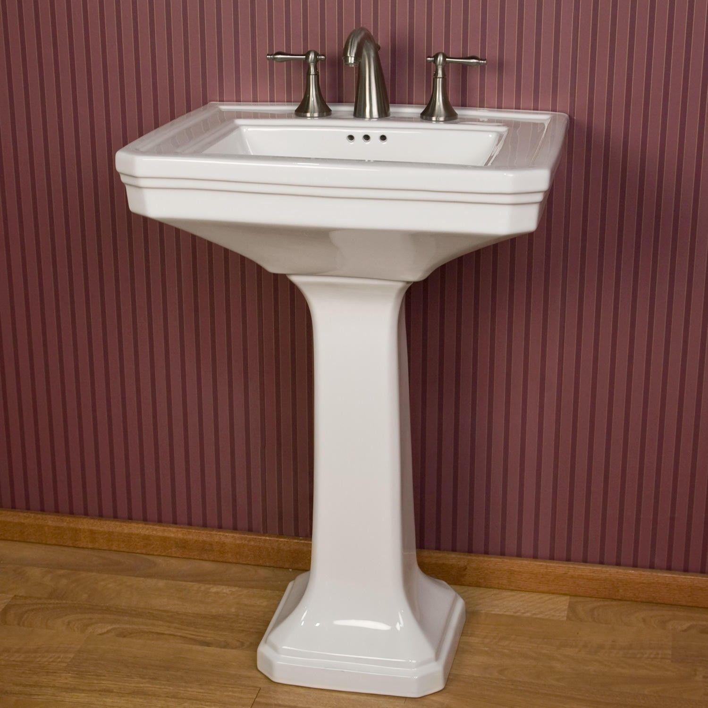 Kacy Porcelain Pedestal Sink To Be Large And Pedestal