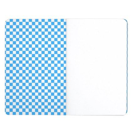 Sky Blue and White Checkerboard Pattern Journal | Pinterest ...