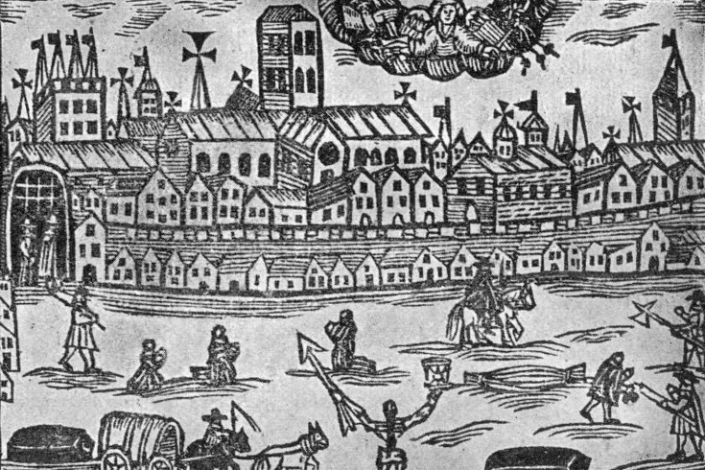 How pandemics change society in 2020 Plague, Woodcut