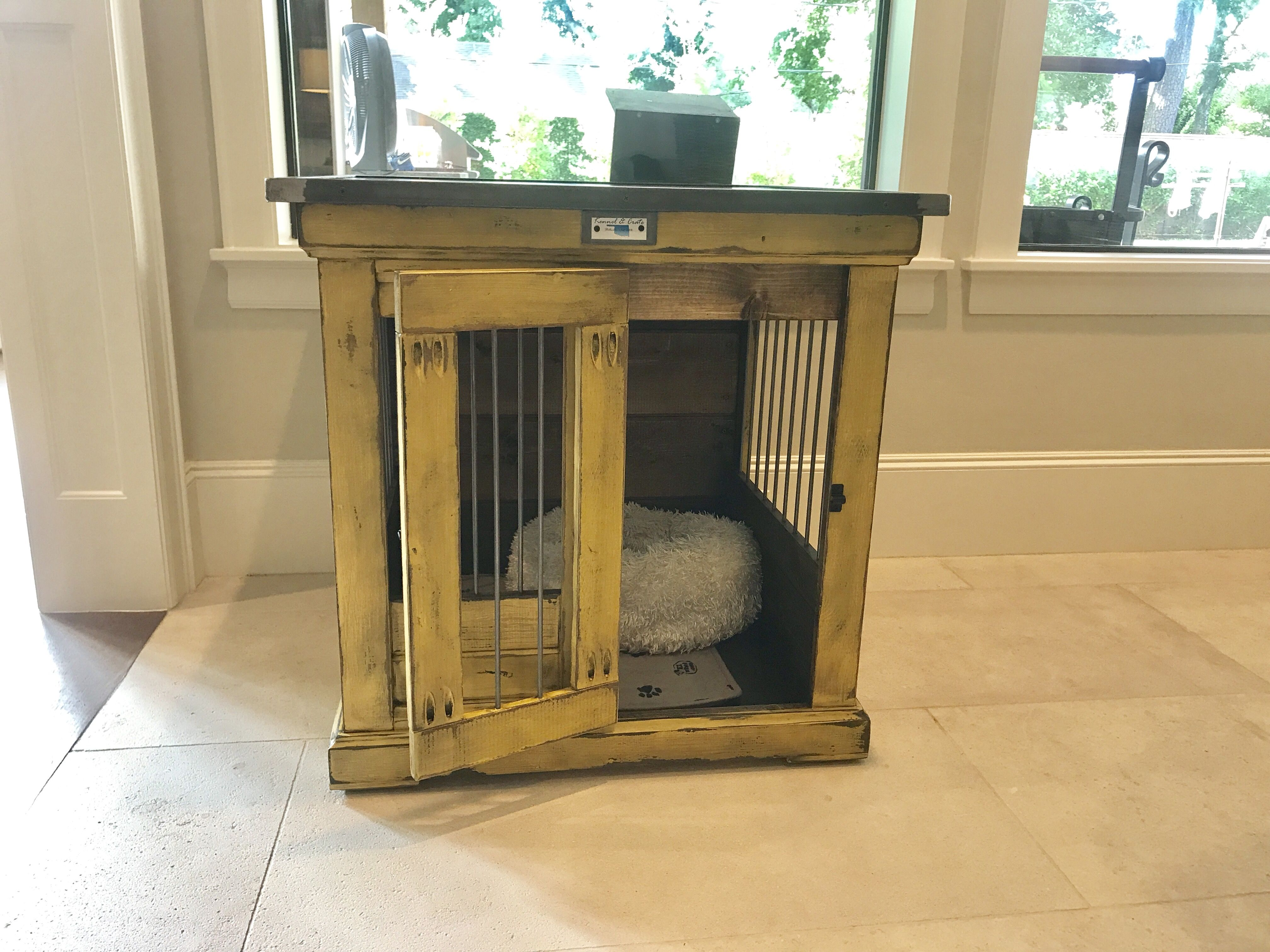 Designer indoor dog kennels! Replace your wire dog crate
