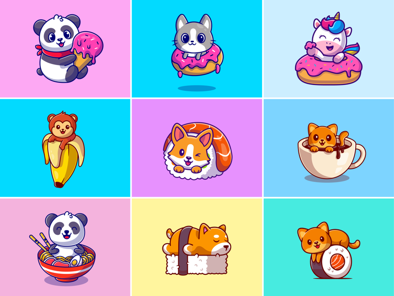 Food Animal By Catalyst On Dribbble In 2021 Food Animals Graphic Design Illustration Illustration Design