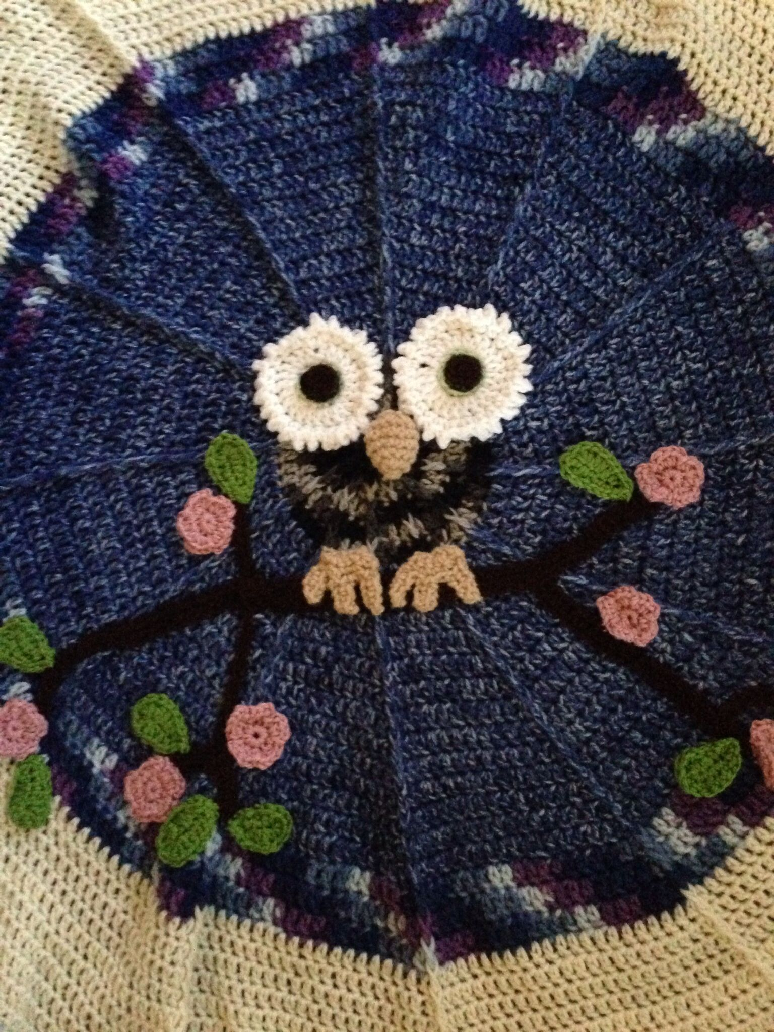 Crochet owl blanket pattern from redheart my crochet knit crochet owl blanket pattern from redheart bankloansurffo Image collections
