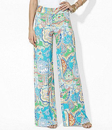 Lauren Ralph Lauren WideLeg Paisley Pants #Dillards | My Style ...