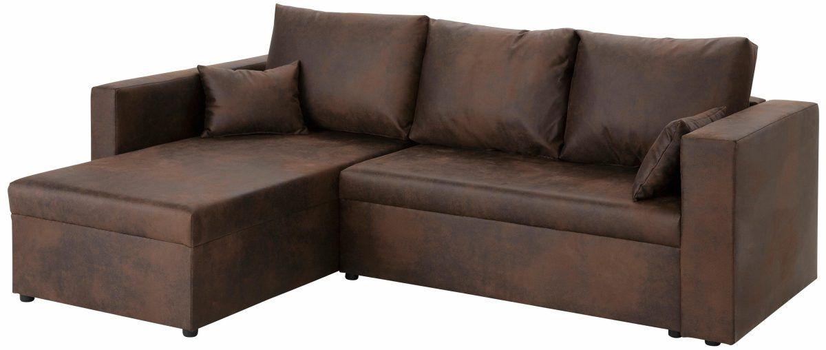 Home affaire Ecksofa »Pur« braun, Recamiere links, FSC®-zertifiziert - wohnzimmer sofa braun