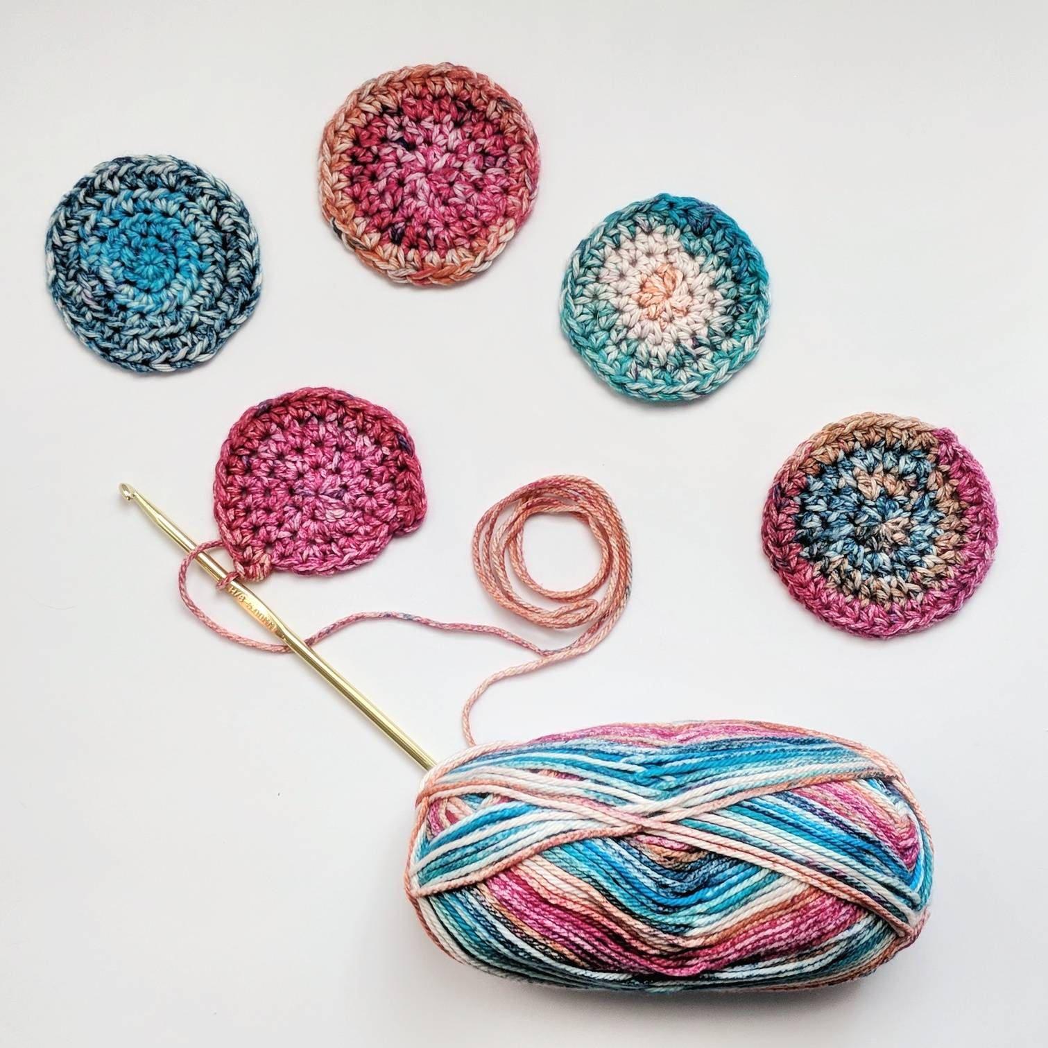 Reusable Cotton Rounds - 3 Pack - Cotton Makeup Remover - Crochet ...