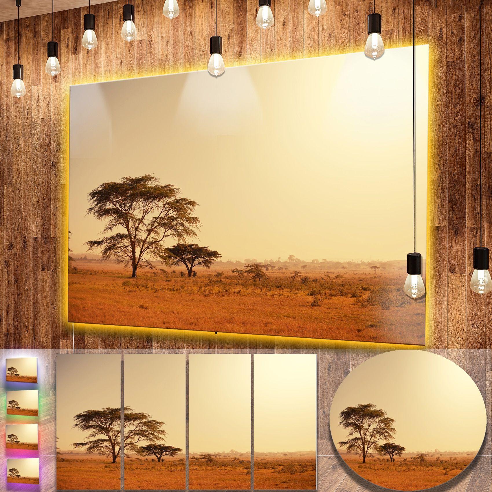 Designart \'Trees in African Landscape\' African Landscape Metal Wall ...