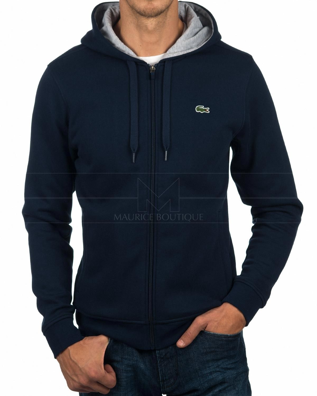 30628892d2b7 LACOSTE © Zip Up Hoodie Sweatshirt Jacket - Navy Blue