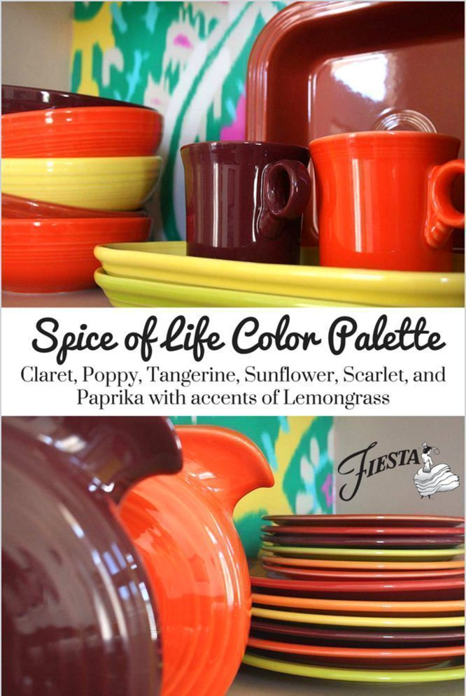 Fiesta Dinnerware  Spice of Life Color Palette  with new color Claret! Other  sc 1 st  Pinterest & Fiesta Dinnerware