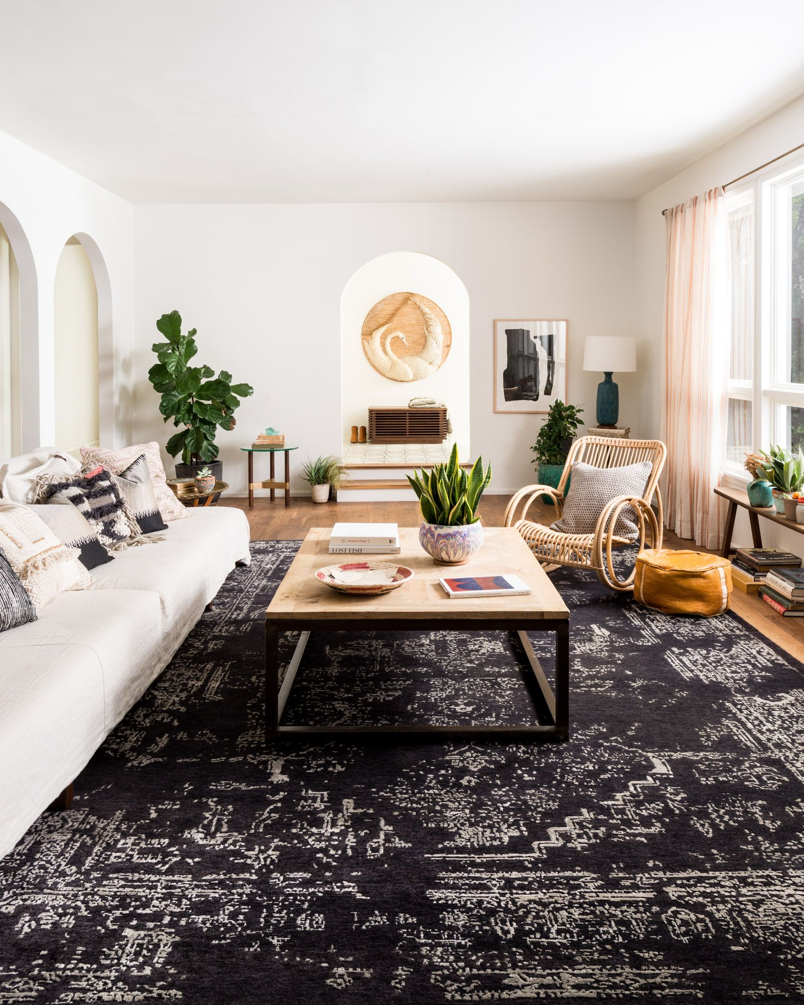 Loloi Elsa Ef 03 Charcoal Rug Rugs In Living Room Living Room Carpet Black Carpet Living Room