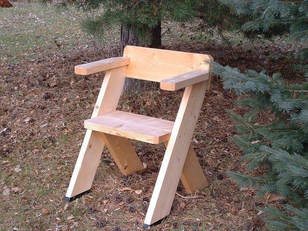 um projeto de uma pequena cadeira, tipo pescador, todas as etapas no ...