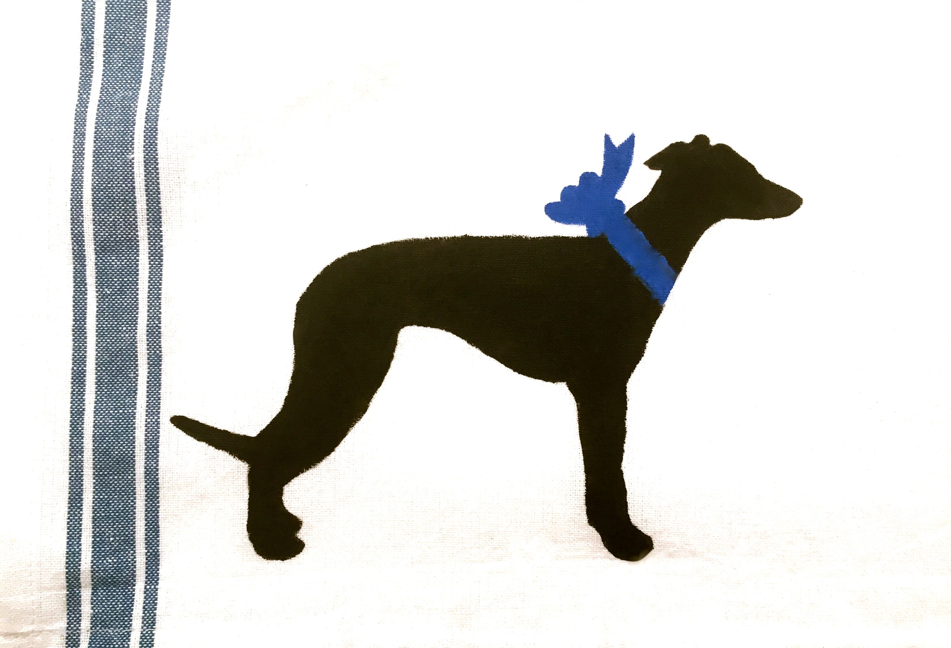 Greyhound Dish Towel