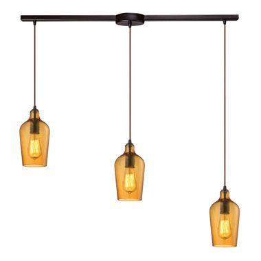 Oil Rubbed Bronze Elk Lighting 57217//7 Island Light