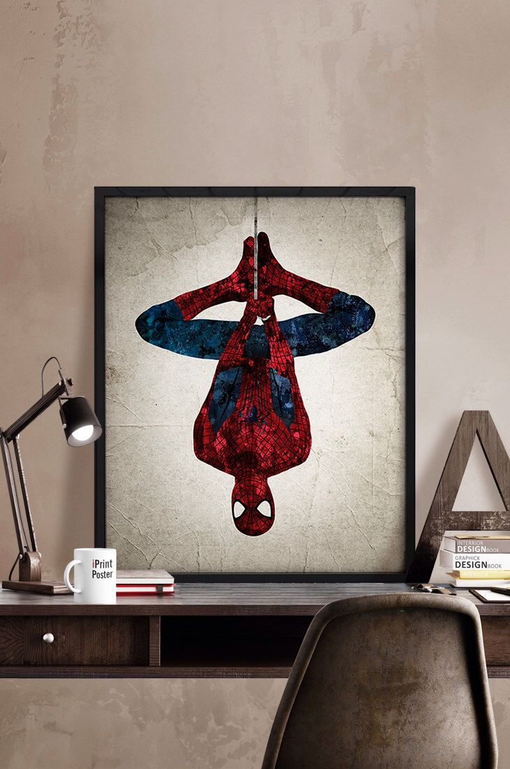 Captivating Spiderman Poster, Spiderman Print, Superheroes Poster, Marvel Print,  Spiderman Abstract, Wall