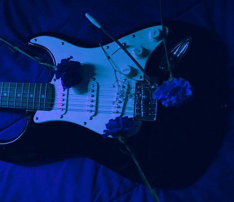 Blue Guitar Aesthetic Blue Aesthetic Music Aesthetic Aesthetic