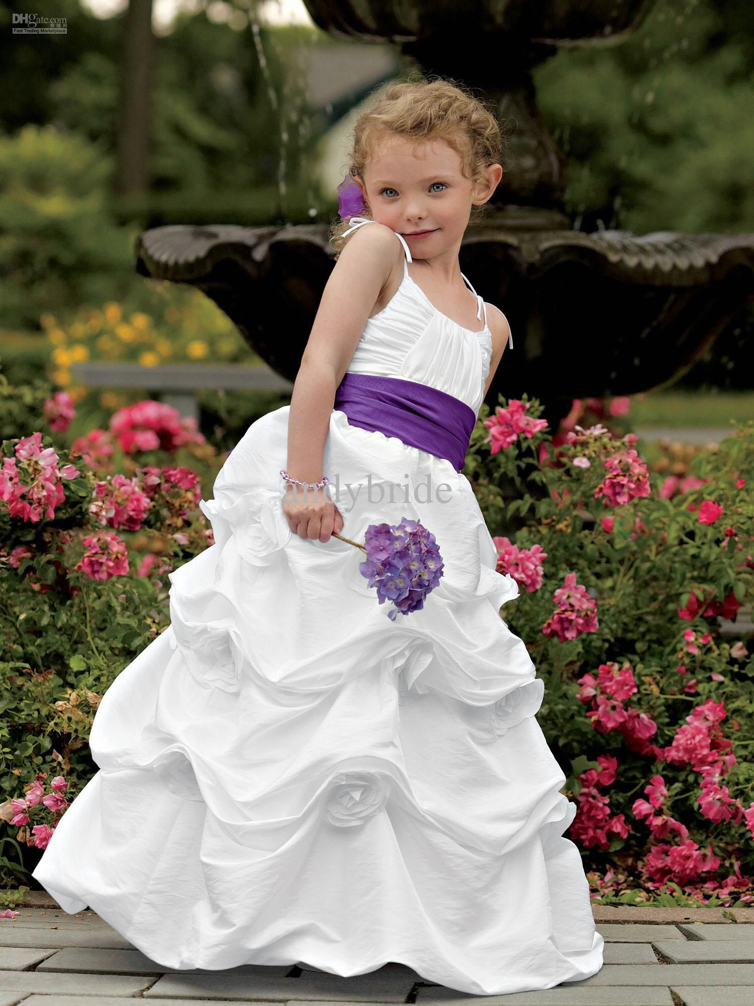 Cheap lovery purple belt bubble unkle length flower girl dresses cheap lovery purple belt bubble unkle length flower girl dresses little girls pageant dresses as low as 11492 also buy girls dresses size 10 girls formal izmirmasajfo