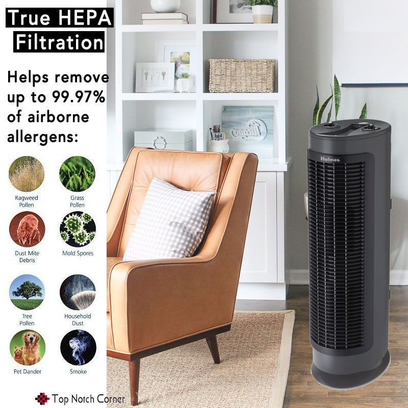 New Hepa Air Purifier Tower Air Dust Smoke Cleaner Ionizer For