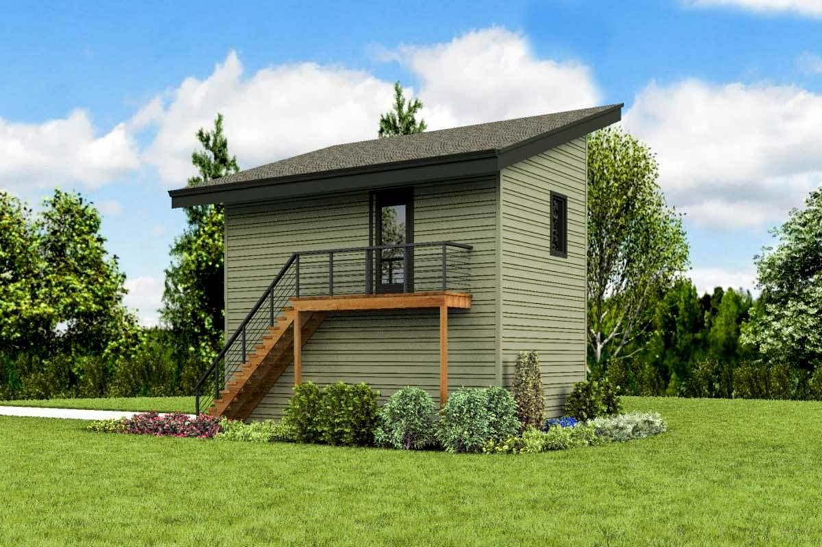 Plan 69702AM: Versatile Carriage House Plan with Vaulted Studio Apartment