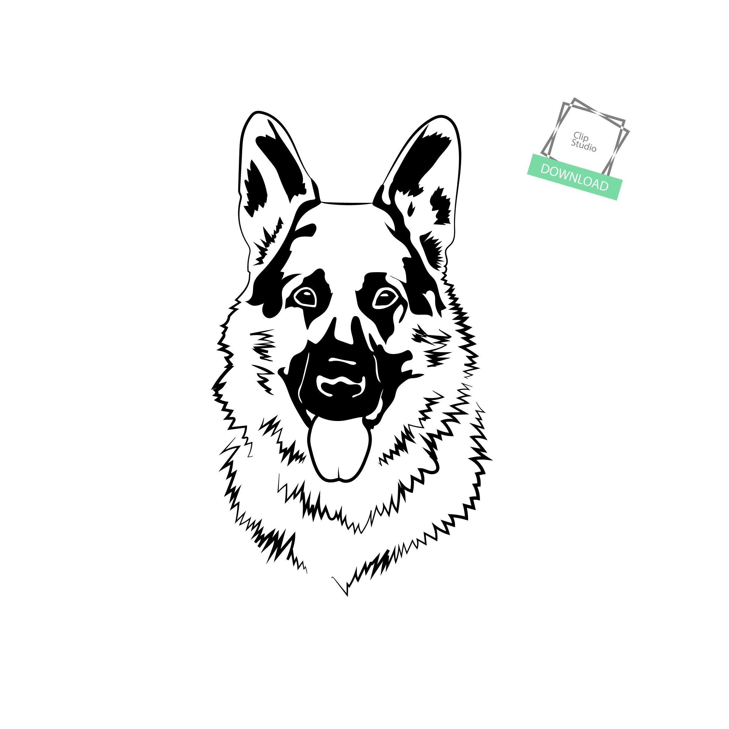 German Shepherd 1 Sheepdog Friend Police Dog Animal Cute Puppy Breed Guard Front Svg Eps Png Clipart Vector Tatt Sheepdog German Shepherd Cute Puppy Breeds
