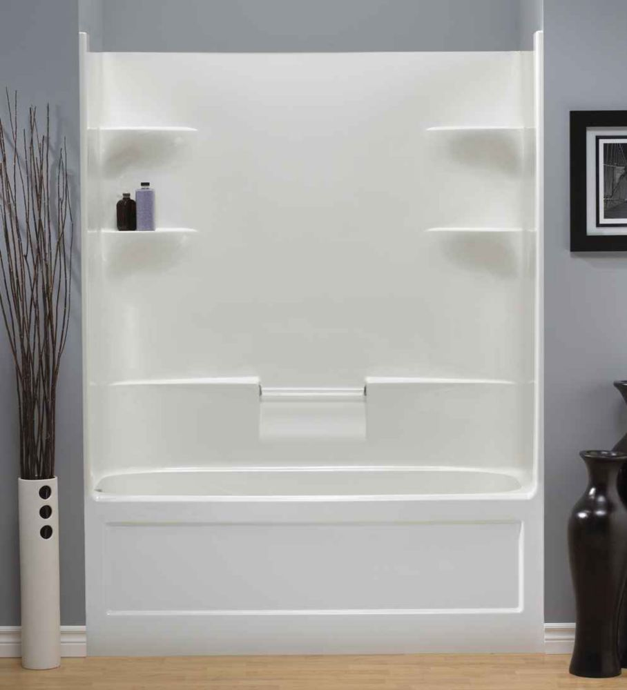 Belaire 1-piece Acrylic Dome Less Tub And Shower-Left Hand