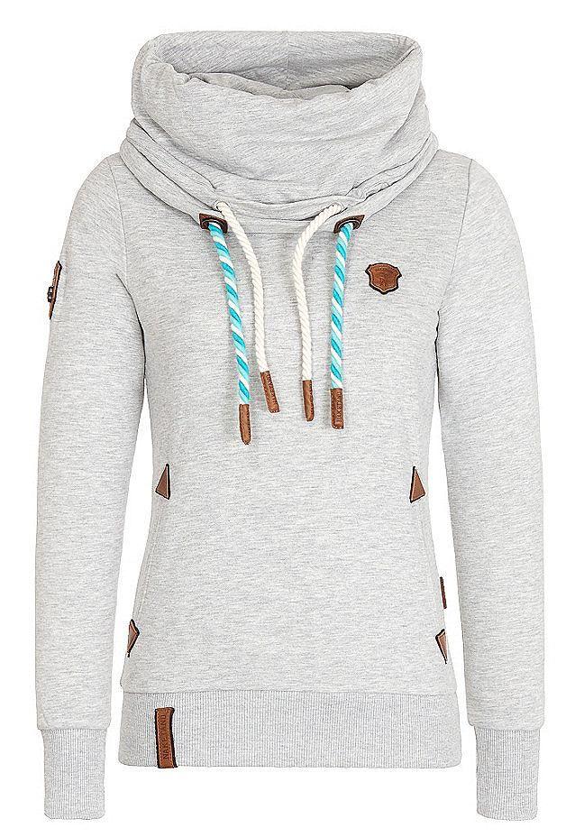 naketano Sweatshirt 'Rereorder' in schwarz 65 % Baumwolle