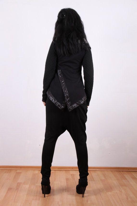 Schwarze Drop Crotch Unterhose Haremshose | Etsy | Hosen