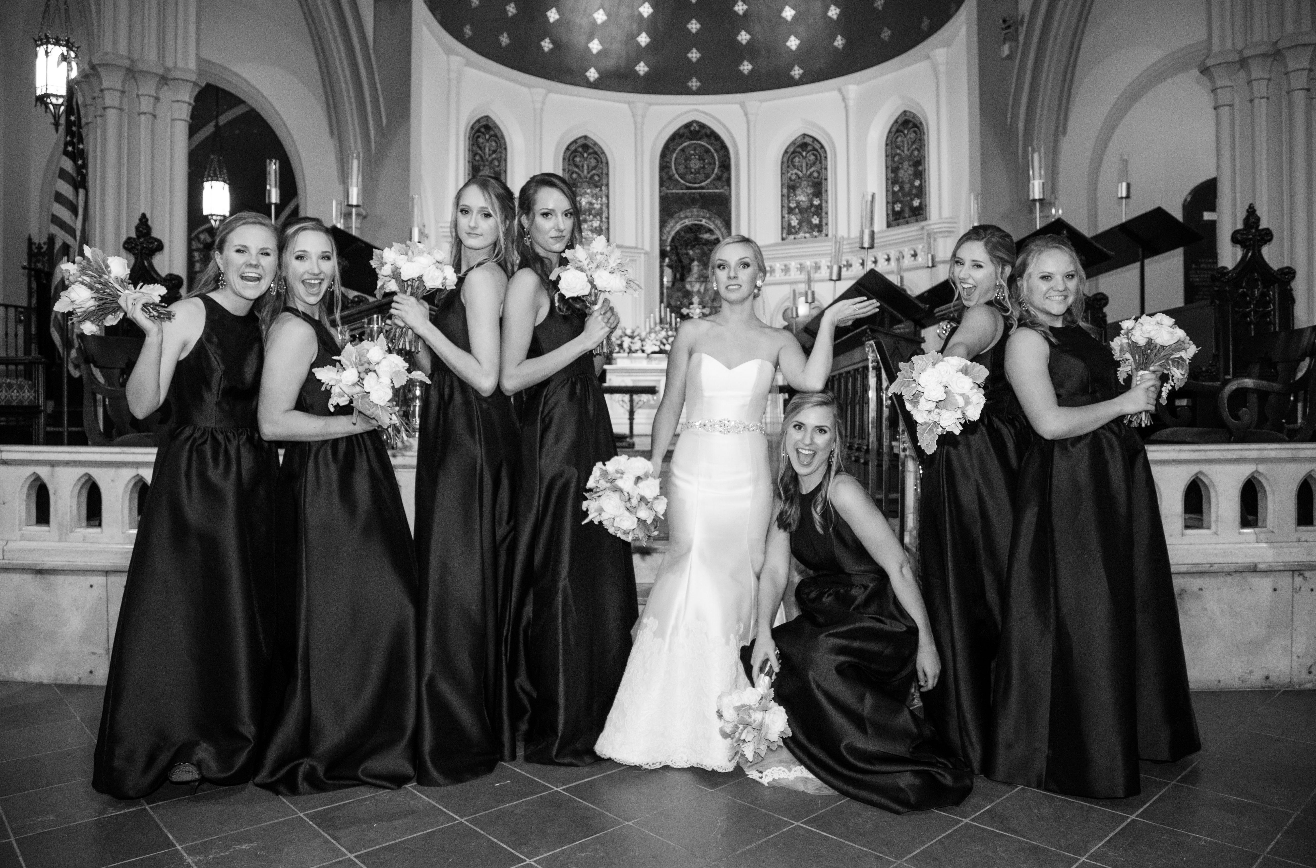 Fun bridesmaid photos charlies angels silly bridesmaid poses bridesmaid ombrellifo Choice Image