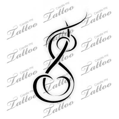 Intertwined Letters T And S T And S Design 57561