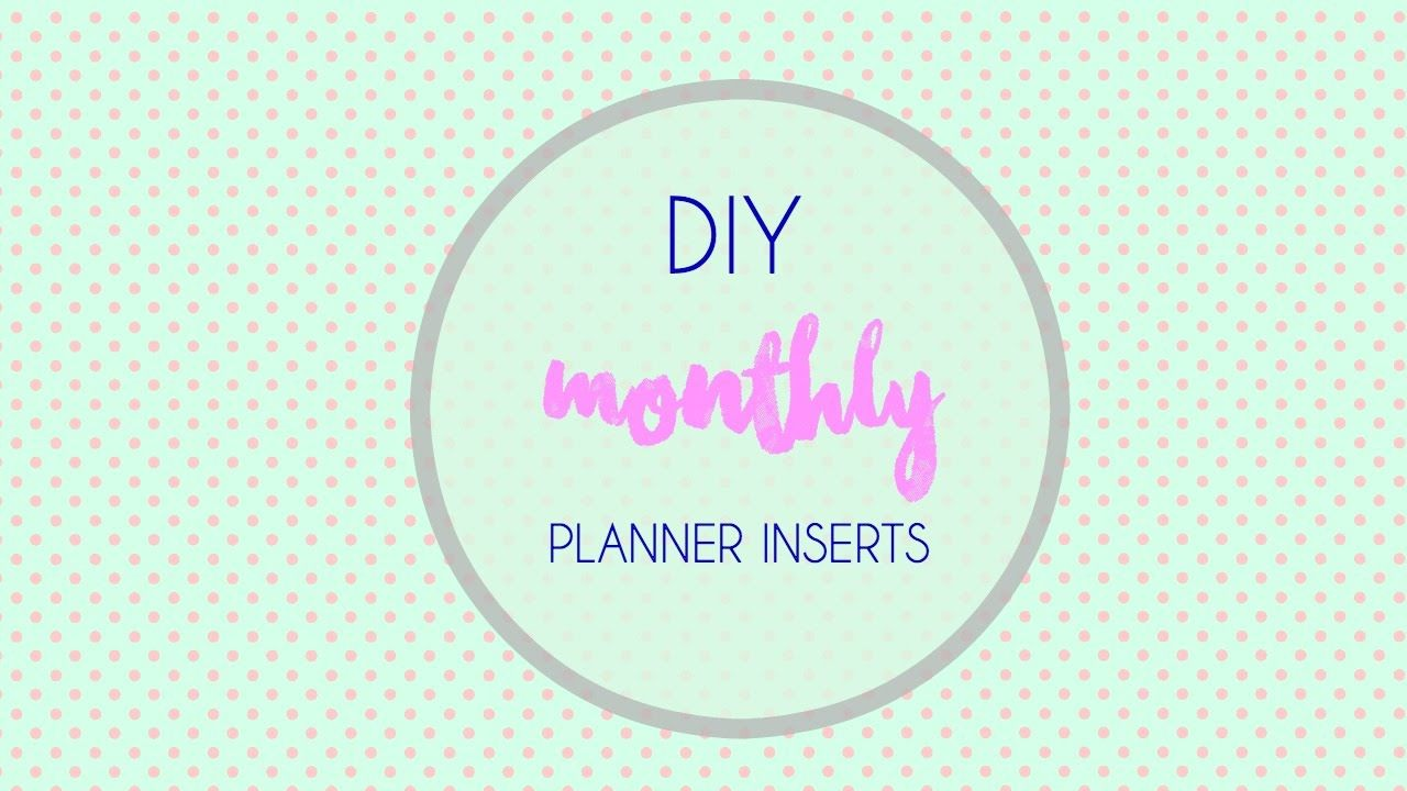 Microsoft Daily Planner Diy Monthly Planner Inserts Microsoft Word  Word Tutorials .